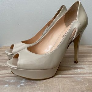 Marc Fisher Tumble 7 in Nude Peep Toe Heels